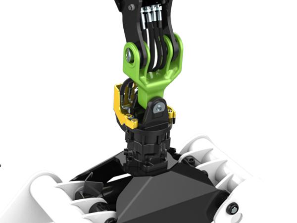De Palfinger Epsilon Epslink heeft een kruisstuk waardoor slangen voor rotator en grijper geheel beschermd blijven. Optimale bescherming tijdens gebruik.